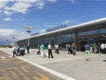 Международный аэропорт в Подгорице