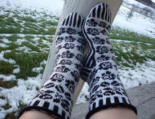 Финские вязанные носки