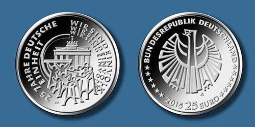 Памятная монета к 25-ой годовщине воссоединения Германии