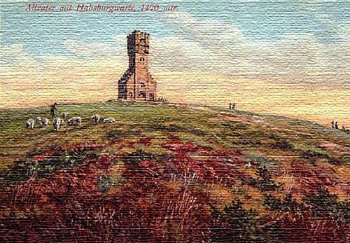 Смотровая вышка на горе Прадед 1912 год