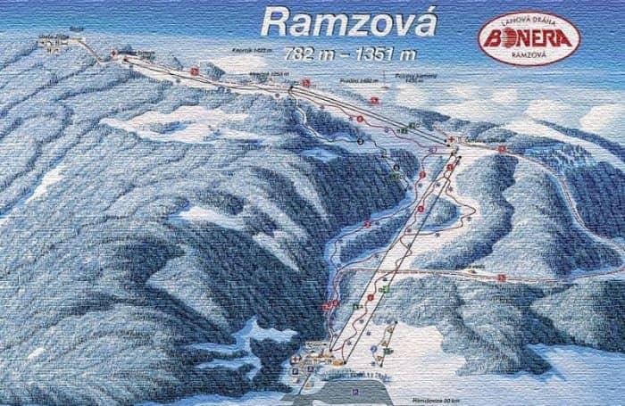 Схема катания на курорте Рамзова