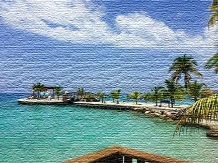 Вид на океан, Гаити