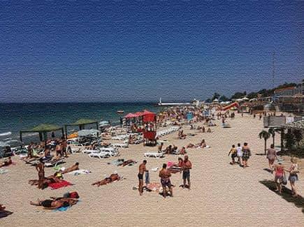 Морское побережье в Одессе