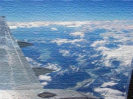 Вид из самолета на Чили