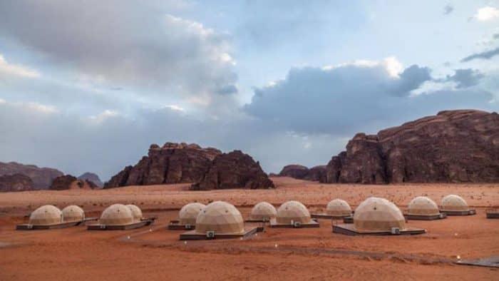 В Иордании построили туристический комплекс с футуристическим уклоном