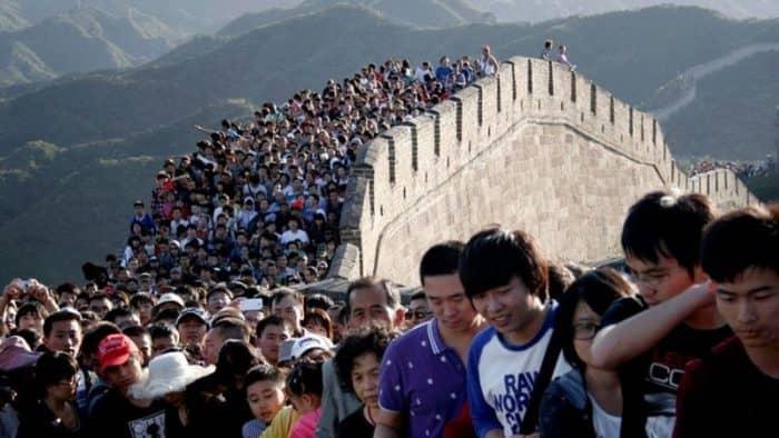 В провинции Цзянси построена мини-копия Китайской стены