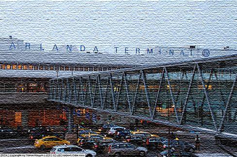 Международный аэропорт в Швеции