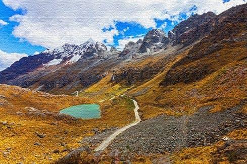 Отдых в горах государства Перу