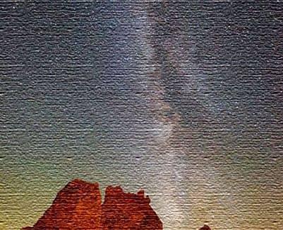 Млечный путь в Калифорнийской пустыне