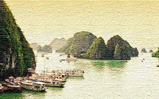 Осуществите круиз в Ha Long Bay, Вьетнам