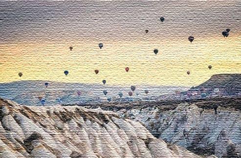 Поднимитесь на воздушном шаре в Каппадокии, Турция