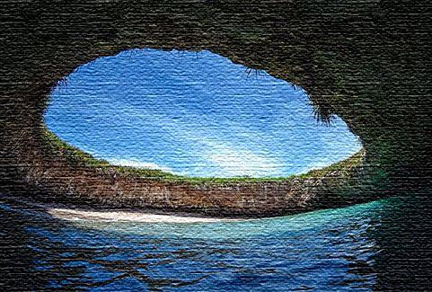 Скрытый пляж - острова Мариэта, Мексика