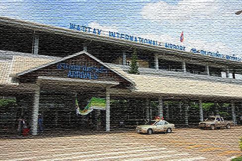 Национальный аэропорт в Лаосе