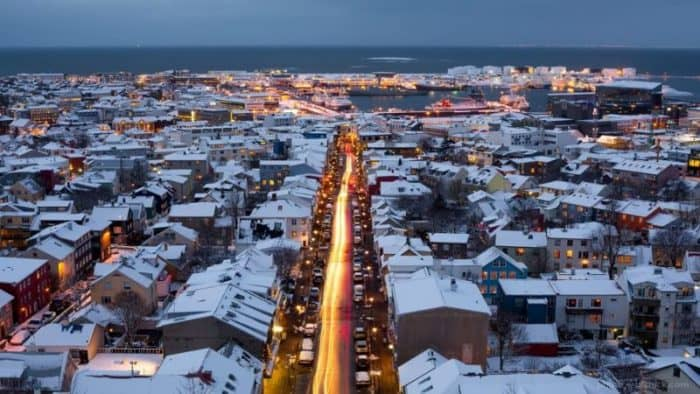 Рейкьявик почти полностью забронирован на новогодние праздники