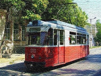 Евпаторийский трамвай (фото)