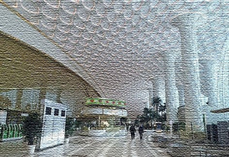 Национальный аэропорт в Туркменистане (фото)