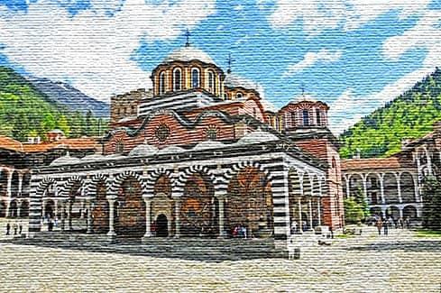 Рильский монастырь - популярная религиозная достопримечательность (фото)