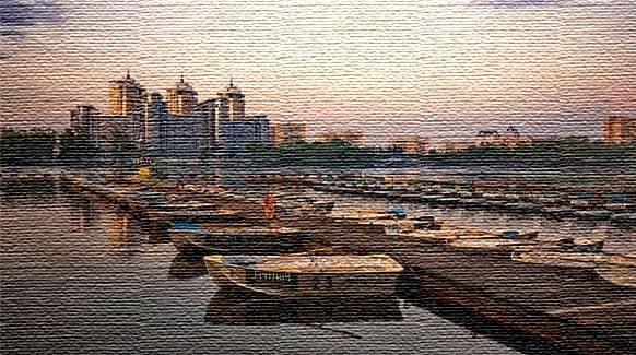 Русановский залив - места на воде (фото)