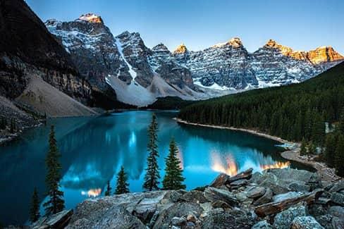 Канада - глухие леса полярной ночи (фото)