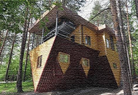 Дом вверх дном (фото)