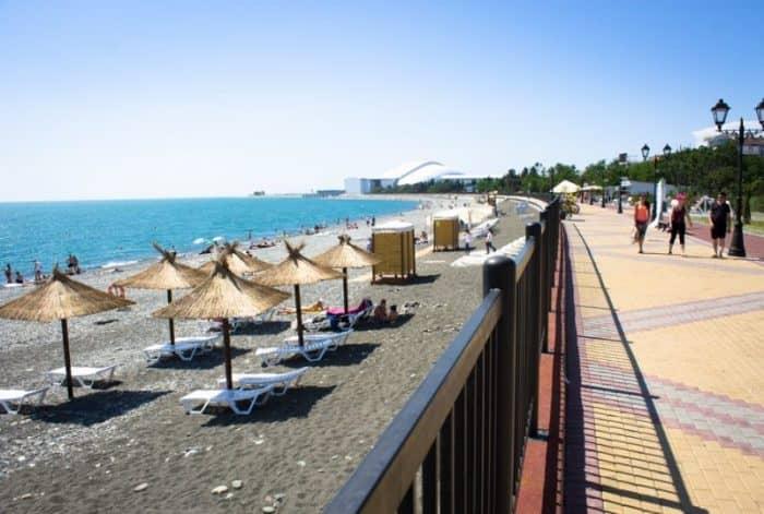 Пляж Олимпийского парка в Сочи