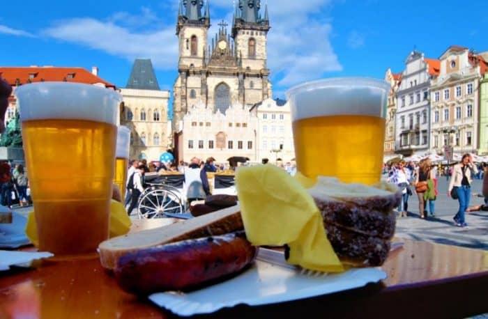 Еда в Праге