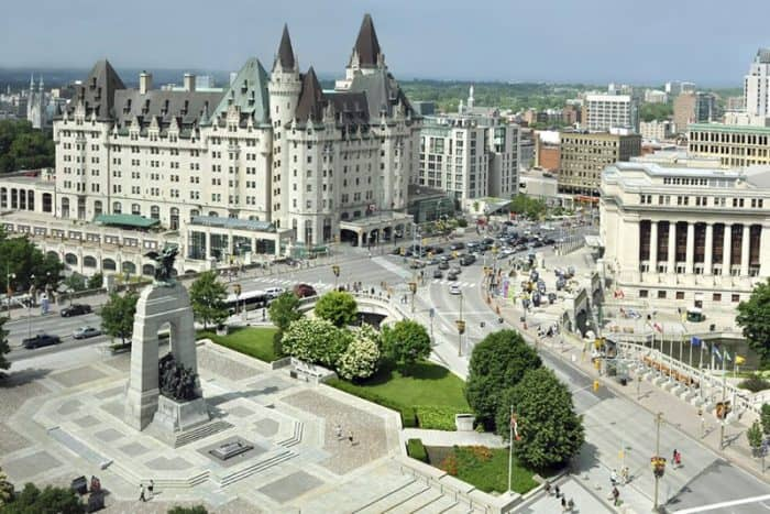 ottawas cenotaph and chateau laurier by paulmckinnon