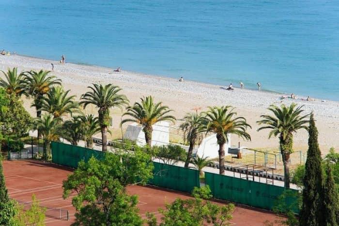 Пляж пансионата «Колхида»
