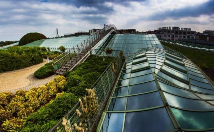 Сад на крыше библиотеки в Варшавском университете