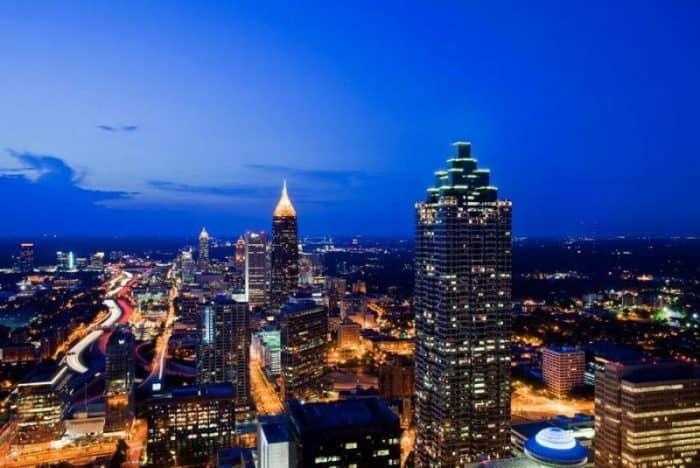 Атланта ночью