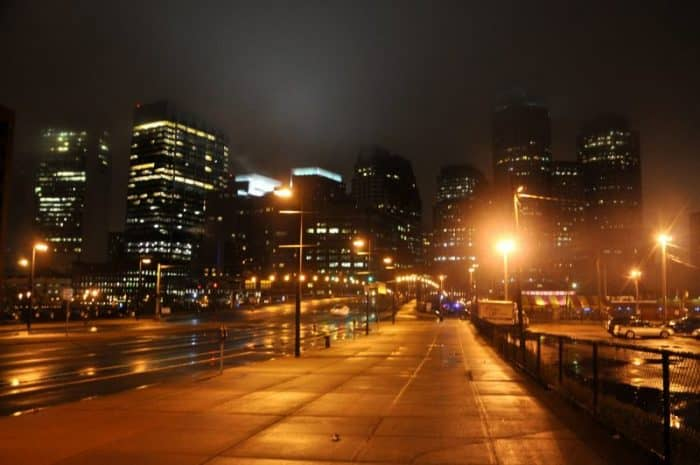Бостон ночью