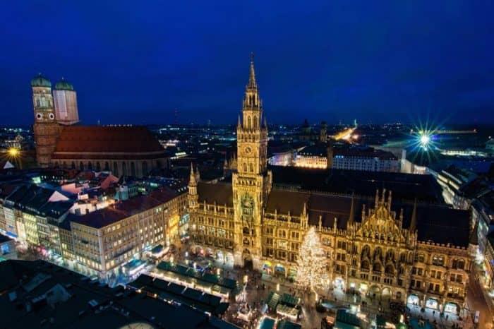 Мюнхен ночью