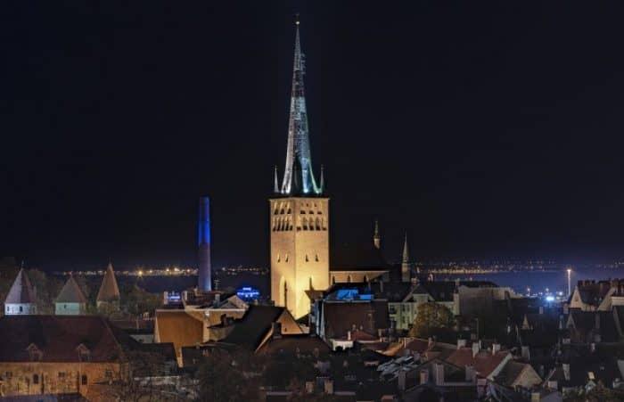 Таллин ночью